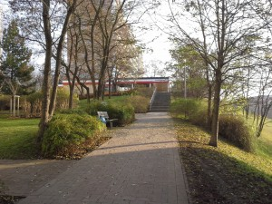 Ansicht von der Demoroute (Kammweg) aus